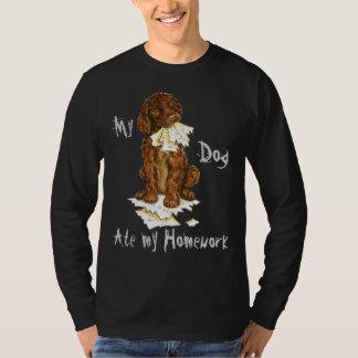 My Irish Water Spaniel Ate My Homework T-Shirt