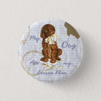 My Irish Water Spaniel Ate My Lesson Plan 3 Cm Round Badge