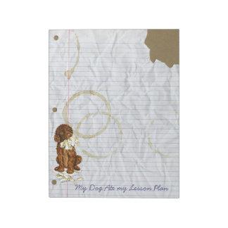 My Irish Water Spaniel Ate My Lesson Plan Notepad