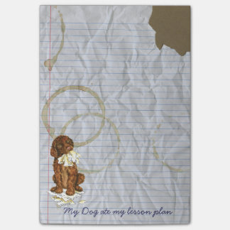My Irish Water Spaniel Ate My Lesson Plan Post-it® Notes