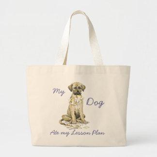 My Irish Wolfhound Ate My Lesson Plan Jumbo Tote Bag