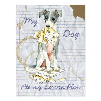 My Italian Greyhound Ate My Lesson Plan Postcard