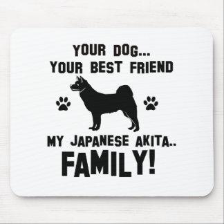 My japanese akita family mousepad
