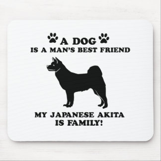 My japanese akita family, your dog just a best fri mousepad