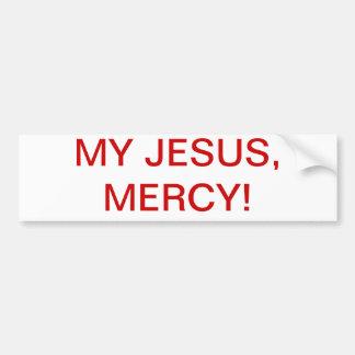 My Jesus, Mercy! Bumper Sticker