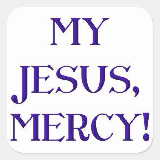 My Jesus, Mercy! Square Sticker