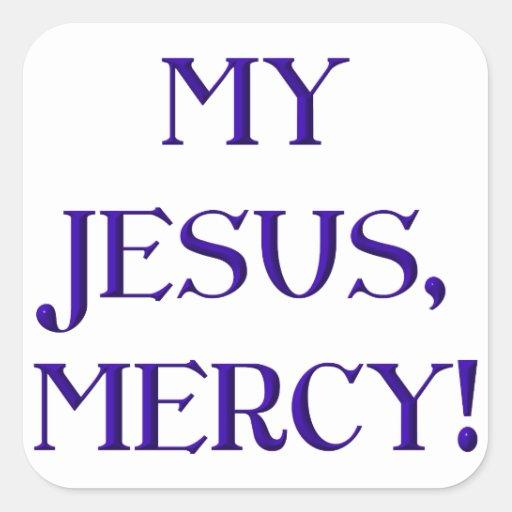 My Jesus, Mercy! Square Stickers