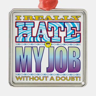 My Job Hate Face Christmas Ornament