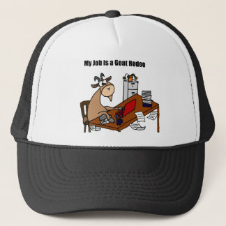 My Job is a Goat Rodeo Design Trucker Hat
