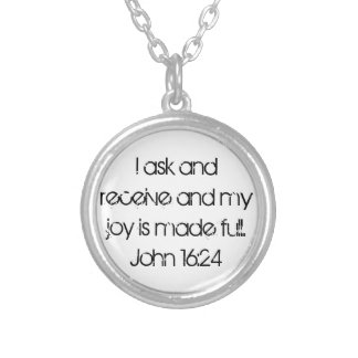 My joy is made full bible verse John necklace