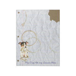 My JRT Ate My Lesson Plan Notepad