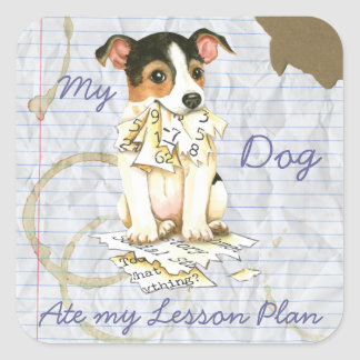 My JRT Ate My Lesson Plan Square Sticker