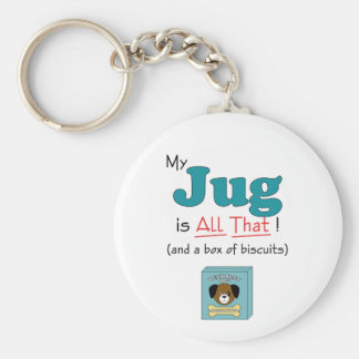My Jug is All That! Basic Round Button Key Ring