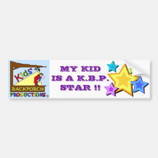 My Kid is a KBP Star Bumper Sticker