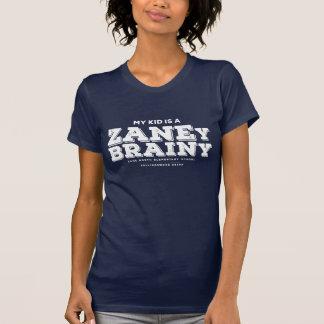 My Kid is a Zaney Brainy Womens Navy Tee