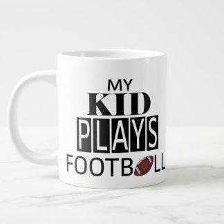 My Kid Plays Football Jumbo Mug