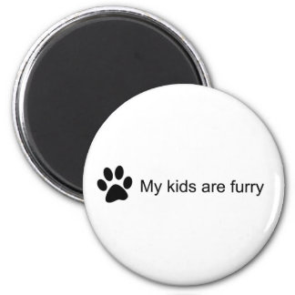 My Kids Are Furry (Cat Paw) Magnet