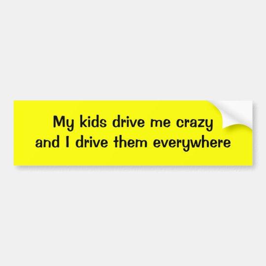 My kids drive me crazy and I drive