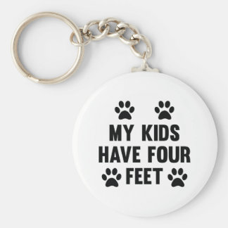 My Kids Have Four Feet Key Ring