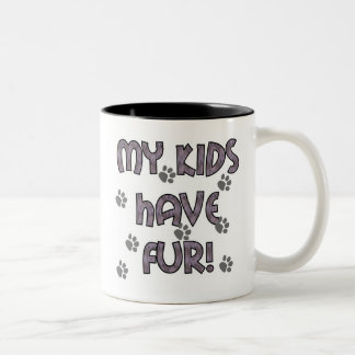 My Kids Have Fur Two-Tone Coffee Mug