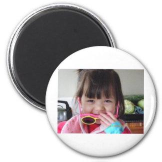 my kids 6 cm round magnet