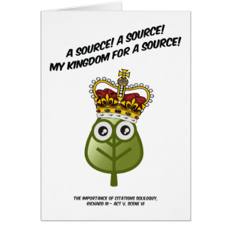 My Kingdom For A Source! Greeting Card