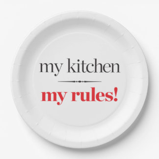 My Kitchen, My Rules 9 Inch Paper Plate
