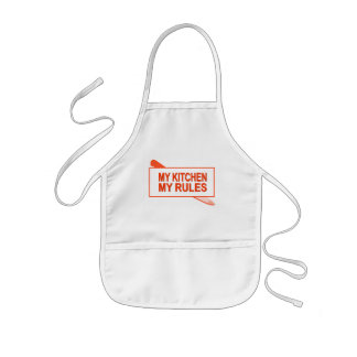 My Kitchen. My Rules. Fun Design for Kitchen Boss Kids Apron