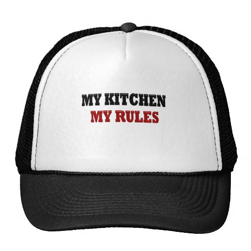My kitchen My Rules Mesh Hats