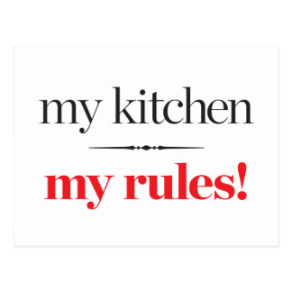 My Kitchen, My Rules Postcard