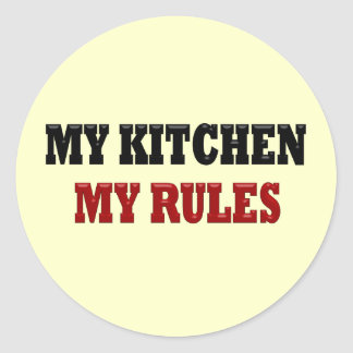 My kitchen My Rules Stickers