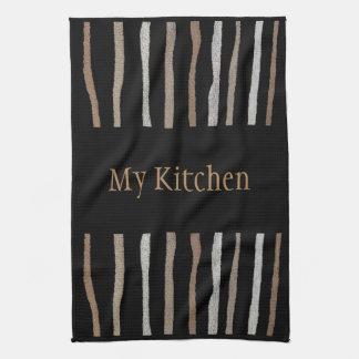 My Kitchen Towel-Home-Beige/Tan/Black/White Tea Towel