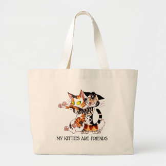 My Kitties Are Friends Tote Bags