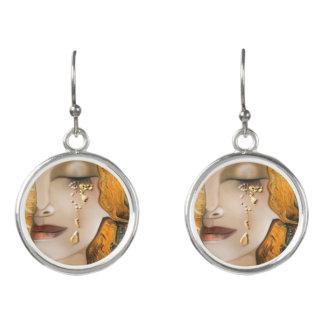 My Klimt Serie : Gold Klimt Earrings