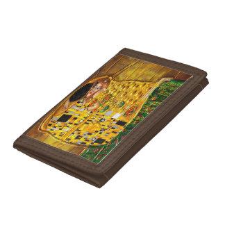 My Klimt Serie:The Kiss Tri-fold Wallet
