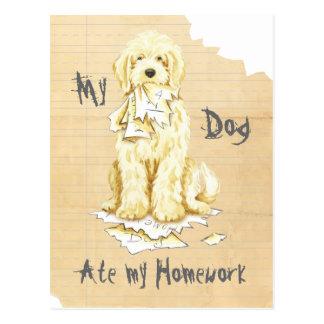 My Komondor Ate My Homework Postcard