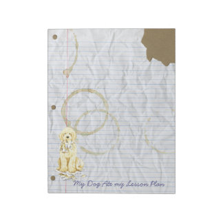 My Komondor Ate My Lesson Plan Notepad