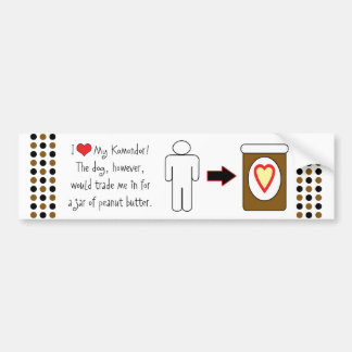 My Komondor Loves Peanut Butter Bumper Sticker