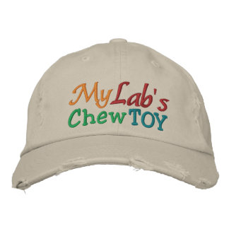 My Lab s Chew Toy Cap by SRF Embroidered Baseball Caps