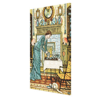 My Lady's Chamber, frontispiece to 'The House Beau Canvas Print