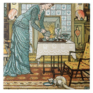 My Lady's Chamber, frontispiece to 'The House Beau Large Square Tile