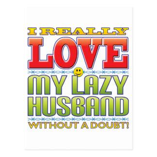 My Lazy Husband Love Face Postcards