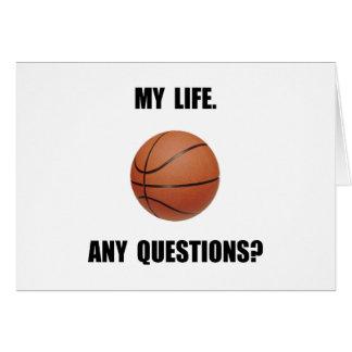 My Life Basketball Card
