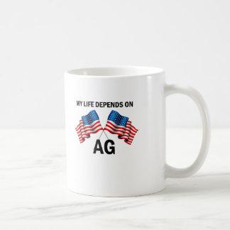 My Life Depends On AG Basic White Mug