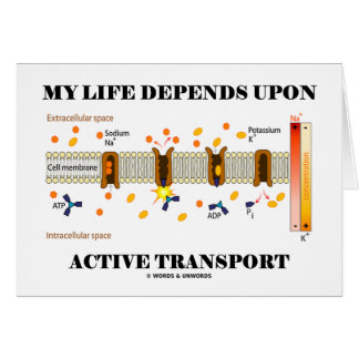 My Life Depends Upon Active Transport Humor Cards