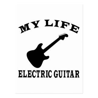 My Life Electric Guitar Postcard