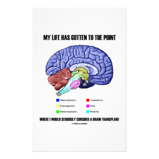 My Life Gotten To Point Consider Brain Transplant Custom Stationery
