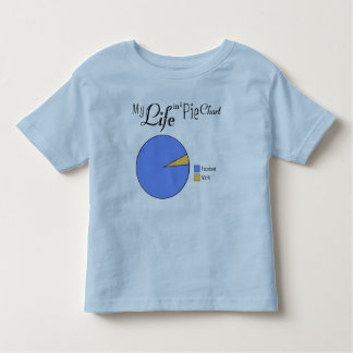 My Life In A Pie Chart- Facebook & Work for Kids Toddler T-Shirt