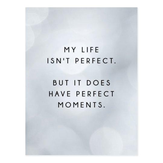 My Life Isn't Perfect Inspirational Postcard