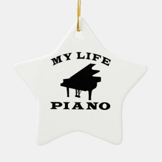 My Life Piano Ceramic Star Decoration
